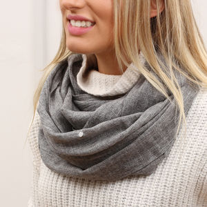 Personalised Cashmere Mix Supersoft Snood - gifts for her