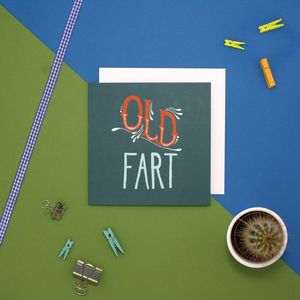 'Old Fart' Vintage Birthday Card - sale