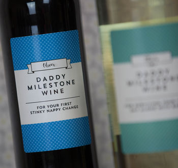 Daddy Milestones Personalised Wine