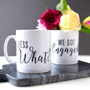 Personalised Engagement Announcement Pair Of Mugs