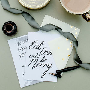 Christmas Calligraphy Kit - cards & wrap