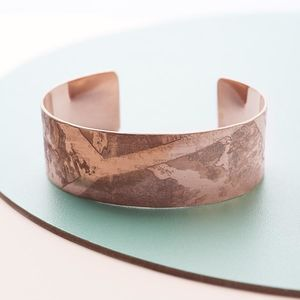 Handmade Rose Gold Cuff - gifts for her