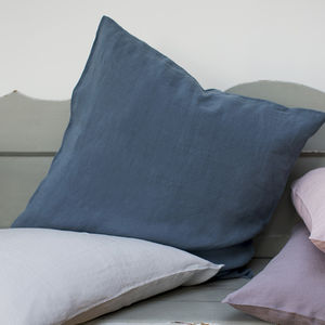 Parisian Blue Linen Cushion