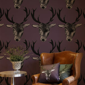 Large Stag Head Wallpaper - view all new