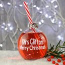 Teacher's Bauble Drinking Glass