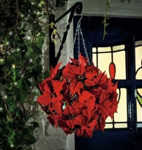 Artificial Topiary Ball / Poinsettia - art & decorations