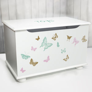 Personalised Toy Box Butterfly Design