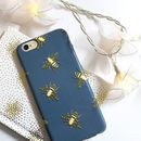 Bees Phone Case With Gold Effect, More Colours