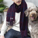 Men's Lambswool Check Initial Scarf