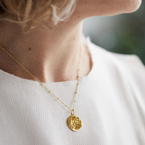 Zodiac Constellation Necklace With White Sapphires - best gifts for her