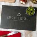 Personalised 'King Of The Grill' Slate Serving Board