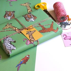 Safari Animal Wrapping Paper - winter sale