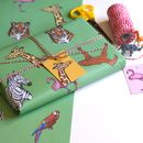 Safari Animal Wrapping Paper