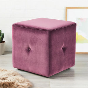 Milan Buttoned Cube - living room
