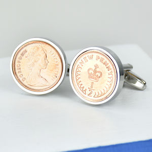 Halfpenny 40th 1976 Birthday Coin Cufflinks