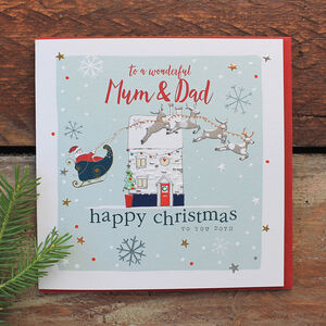 Wonderful Mum And Dad Christmas Card