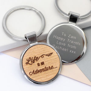 Personalised Adventure Keyring - frequent traveller