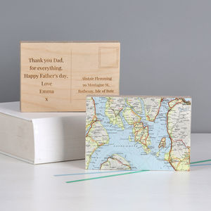 Personalised Map Postcard Ornament Gift For Him