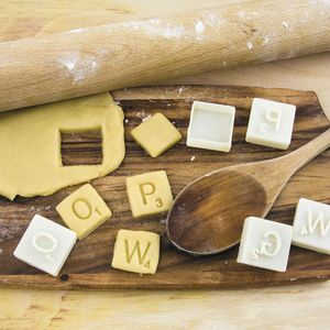 Scrabble Cookie Cutters - cookie cutters