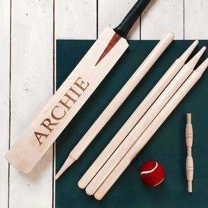 Personalised Children's Cricket Set