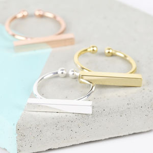 Shiny Bar Ring - gifts for friends