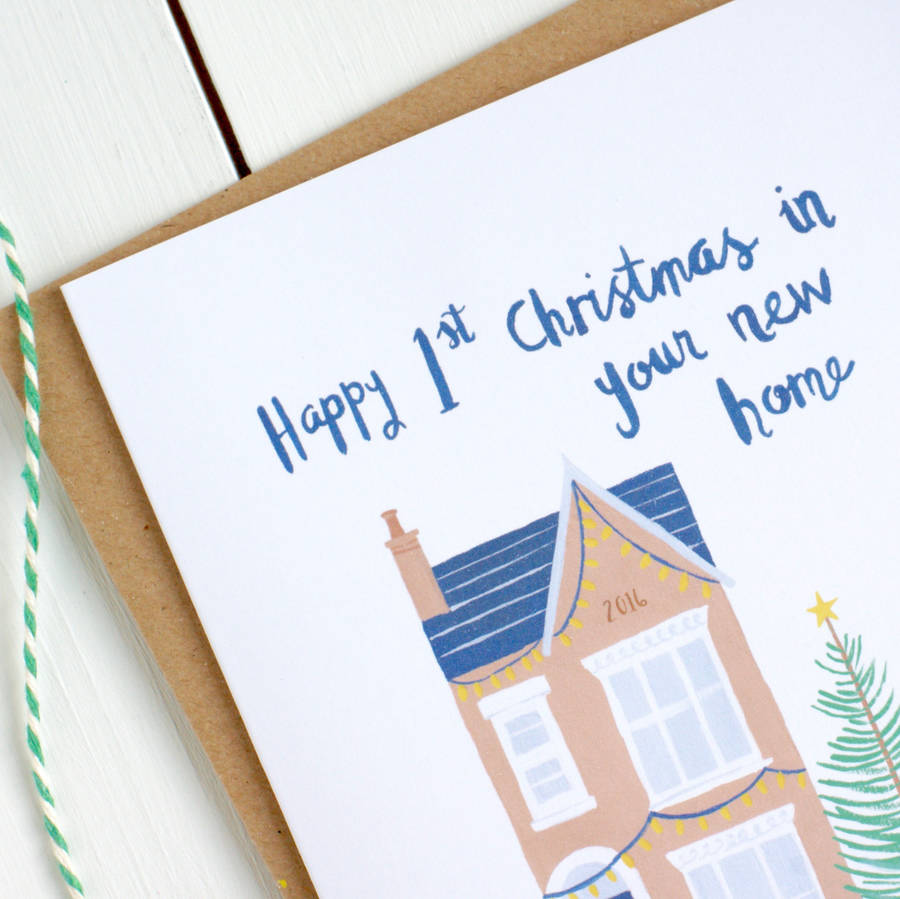 first christmas in your new home card by kimberley rose studio ...
