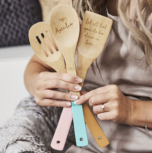 Personalised Wooden Spoon Baking Set