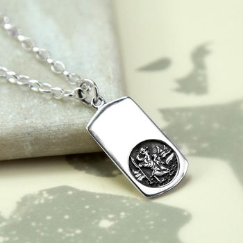 Sterling Silver St Christopher Necklace