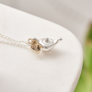 Silver Plated Genie Charm Necklace With Card - necklaces & pendants