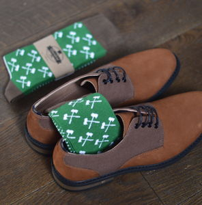 Men's Axes Print Socks - underwear & socks