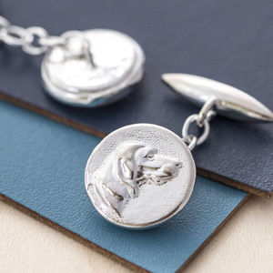 Hunting Dog Cufflinks - cufflinks