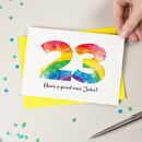 Rainbow Age Personalised Birthday Card