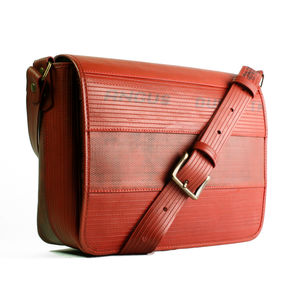 Reclaimed Fire Hose Messenger Bag - laptop bags & cases