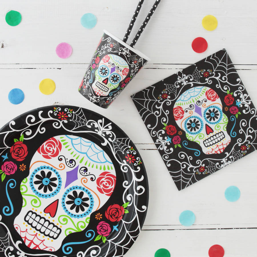 Halloween Day Of The Dead Tableware Bundle