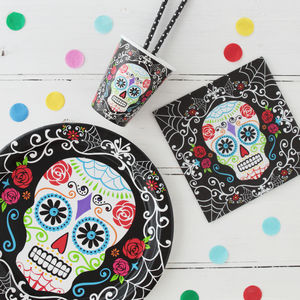 Halloween Day Of The Dead Tableware Bundle - table accessories