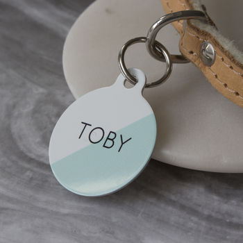Two Toned Pet ID Tag