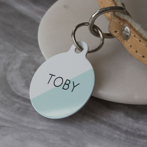 Two Toned Pet ID Tag - summer sale