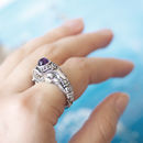 Indian Elephant Silver Gemstone Ring