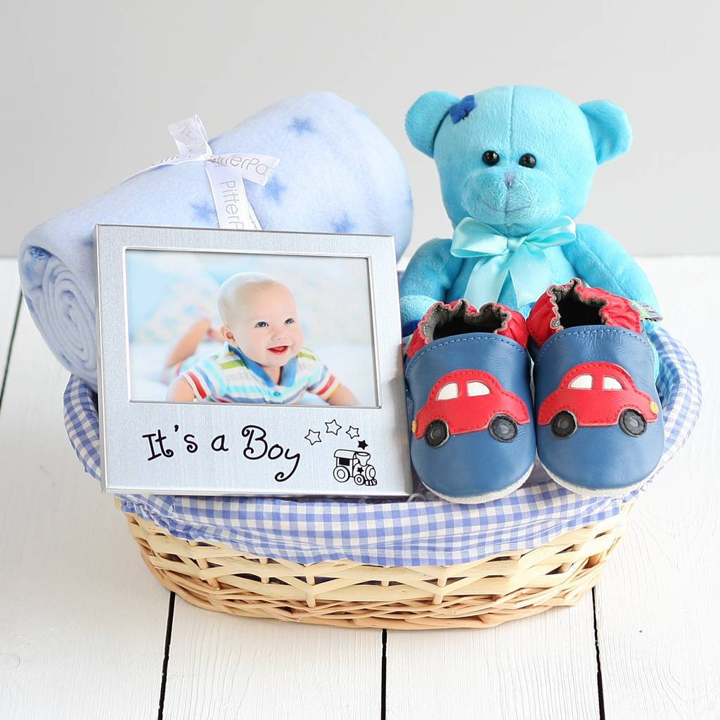 Beautiful Boy New Baby Gift Basket By The Laser Engraving