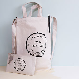 Ph D Student Tote Bag And Pencil Case Set - bags & purses