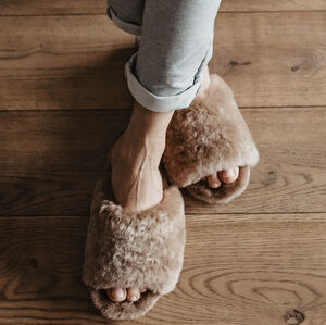 Beige Spa Sheepers Slippers