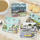 Set Of Four Bristol Coasters