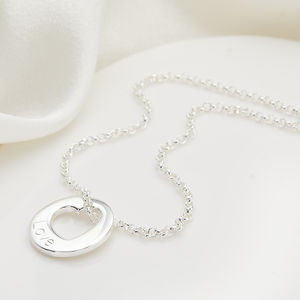 Personalised Silver Open Heart Hope Necklace
