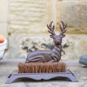 Deer Boot Scraper And Brush