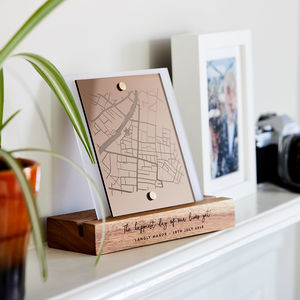 Wedding Gift Mirror Map - view all