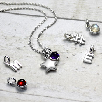 Girls Solid Silver Star Necklace