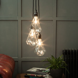 Diamond Geometric Light Bulb - pendant lights