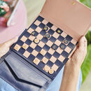 Personalised Leather Chess And Draughts Set