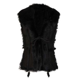 Black Toscana Pieces Gilet - coats & jackets