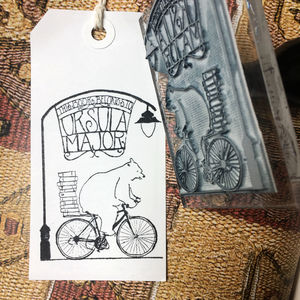 Personalised 'Bear On A Bike' Book Belongs To Stamp